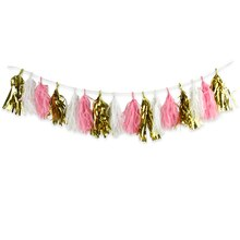 Celebrate It Occasions Tassel Banner, Gold, Pink & White